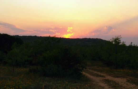 Texas Hill Country Sunset Turkey Hunting